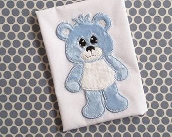 Baby Applique Machine Embroidery Design Teddy Bear