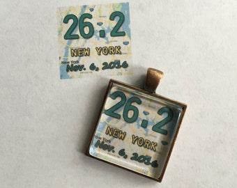 NEW!! Marathon Pendant - Custom Map & Date