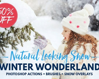 Snow Overlays Photoshop Snow Photoshop Actions Snow Photoshop Brushes Snow Textures Snowy Winter Scenes Winter and Christmas Photo Sessions
