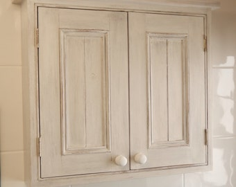 shabby chic wall cabinets for the bathroom shabby chic cupboard etsy uk 26270