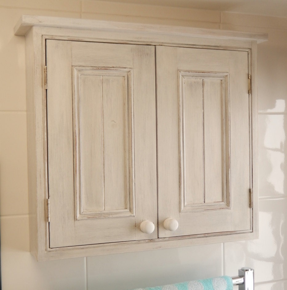 handmade wall cabinet with 2 doors white painted cabinet