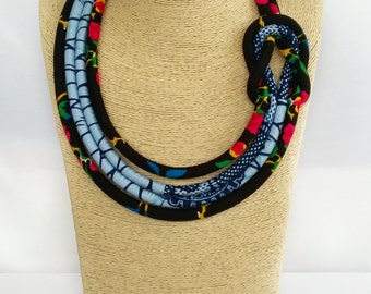 African Fashion Necklace, Ankara Necklace,African Print Neckpiece, Ethnic jewellery,African fabric jewellery,Ethnic Jewellery,Birthday Gift