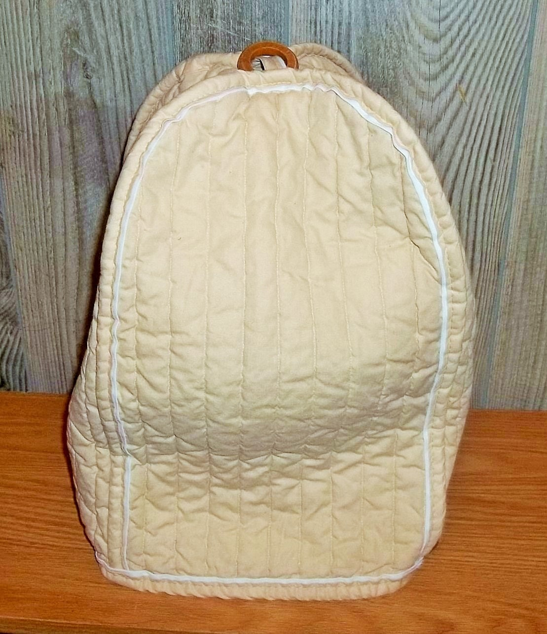 Vintage Large Tan Appliance Cover 70s Beige Stand Mixer Cover