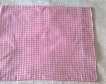 Pink Gingham Pillow Case