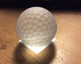 Crystal Paper Weight Very Heavy Frosted Glass Ball Paperweight Golf Ball Very Heavy Crystal  ball coach gift desk organizer ball paperweight