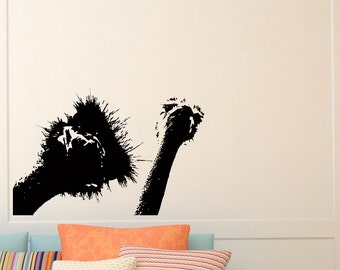 Vinyl Wall Decals Ostrich Animal Camel-Bird Decal Kids Nursery Room Bedroom Living Room Sticker Home Decor Art Mural Z707