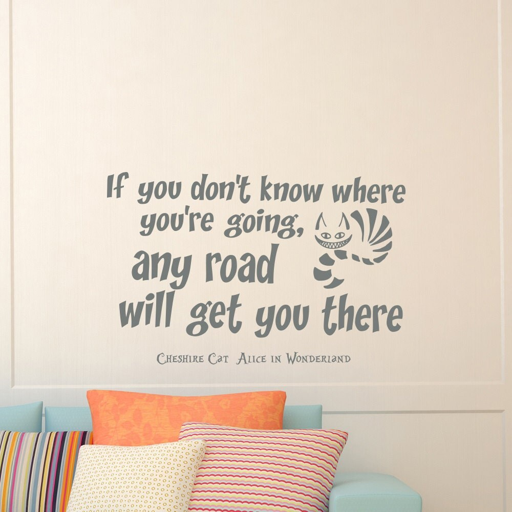 wall vinyl decals alice in wonderland cheshire cat quote decal zoom