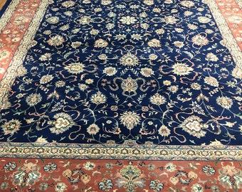 """Persian Oriental Sarouk Rug 9' 4"""" x 13' 11"""" Exquisite"""