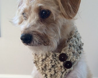 Doggy Scarf, Dog Scarf, Knit Pet Scarf, Dog Bandana, Pet Accessory, Pet Gift, Pet Fashion, Pet Scarf, Doggy Fashion, Hand Knitted Dog Scarf