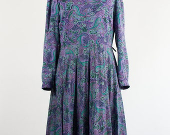 Vintage Dress // Paisley // Pleated