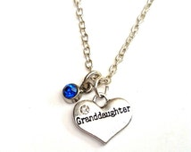 Granddaughter Necklace, Granddaughter Charm, Granddaughter Pendant, Granddaughter Jewelry, Granddaughter Gift,Grandma Granddaughter Necklace