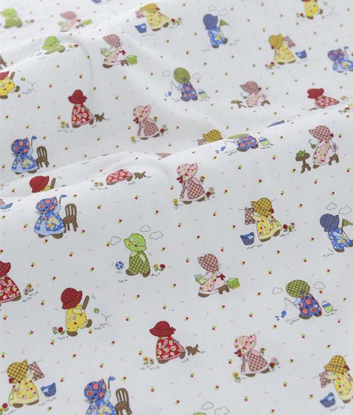 Cute baby knit fabric kawaii small girl knit fabric by for Cute baby fabric