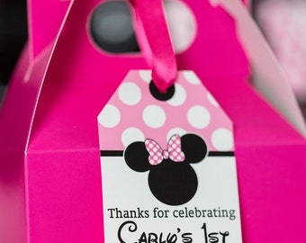 Minnie Mouse Favor Tags - Printable Minnie Mouse Party Favor Tags by Printable Studio