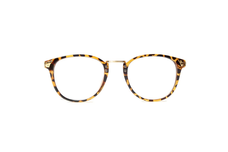 58dccefa5b Panto round Glasses Men Women spectacle leopard Frame Vintage gold  Eyeglasses Hipster retro Eyewear Summer selection