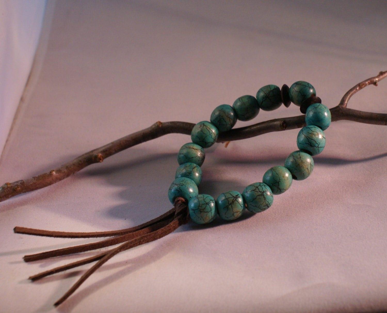 wooden bead bracelet mens bead bracelet boho by