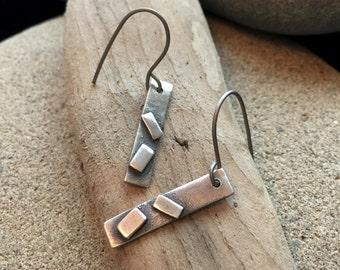 Fine Silver Geometric Earrings