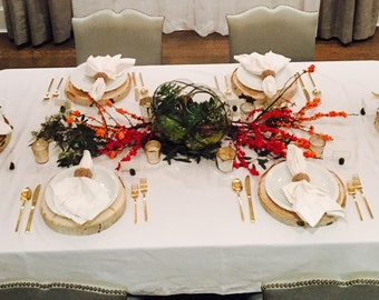 10 Large Tree Slices- 12-13 inch - 1 inch thick - Thanksgiving Table, Plate Charger, Centerpiece, Wood Slab ~ Fall, Thanksgiving Dinner