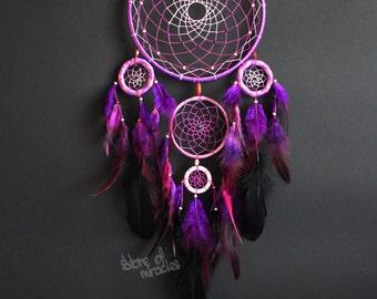 Dream catcher Dreamcatcher American mascots Indian talisman Purple color Boho Home Decor Native American