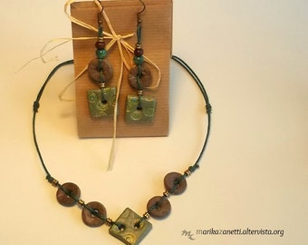 handmade ethnic necklace earrings limited edition gift idea