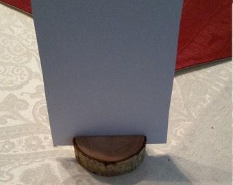 Rustic Tree Slice Card Holder, Place Holder