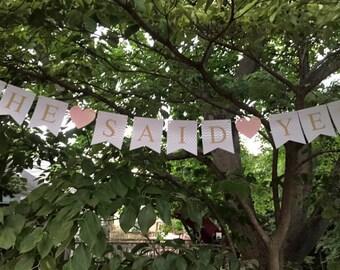 Custom Bridal Shower Banner, She Said Yes Banner, I Do Banner, Bride to be Banner, Future Mrs, Miss to Mrs, Bridal Shower, Bachelorette