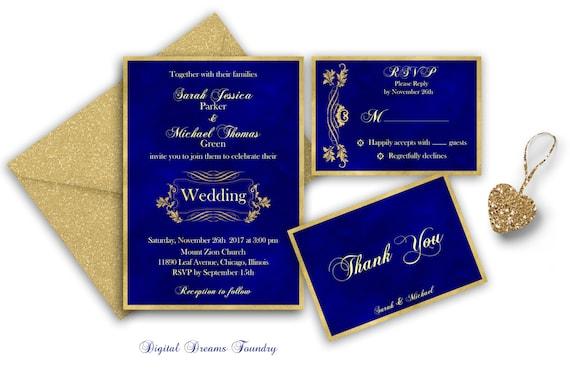 Elegant Wedding Invites Coupon: Elegant Wedding Invitation Printable Gold Wedding Invitation