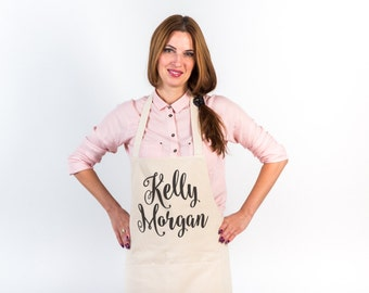 Apron Monogram apron Personalized apron Womens aprons Linen apron with monogram Linen Gift for bride Gift for mother Gift for sister