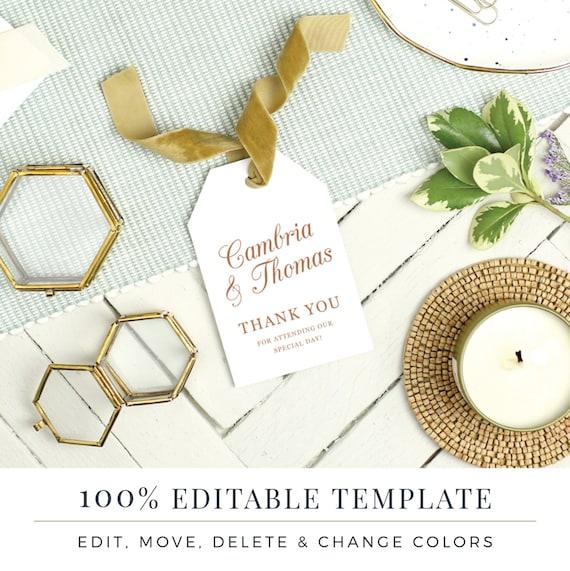 wedding favor tag template printable hang tags word or. Black Bedroom Furniture Sets. Home Design Ideas