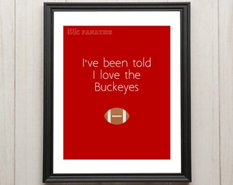 THE Ohio State University Buckeyes Nursery Art Print - Great for baby room, baby shower gift