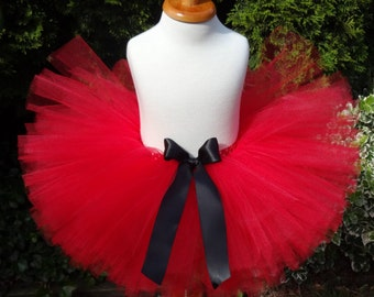 Red Christmas Tutu, Santa Tutu, Red Black Tutu, Baby Santa Tutu, Baby Christmas Tutu, Red Black Holiday Tutu, Red Black Cakesmash Tutu, Tutu