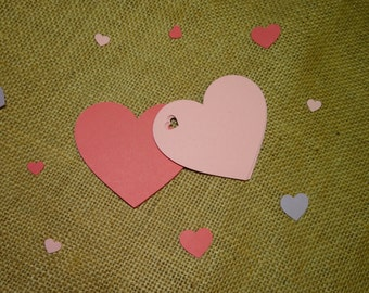 30 Heart Shaped Tags - Gift Tags, Favor Tags, Scrapbooking
