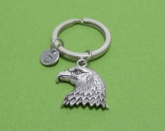 Eagle Keychain, Eagle Head, Bird, Animal, Pet, American Eagle, Gift for Her, Gift for Him, Personalised, Engraved, Monogram, Customised