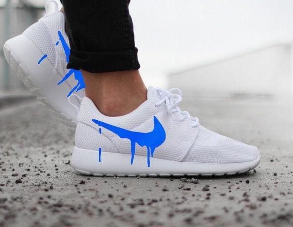 brand new c996f 25453 Drippy Pics Blue Nikes