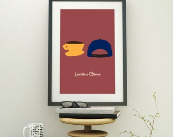 Gilmore Girls - Gilmore Girls Print - Espresso Cup - Unique Wedding Gift - Luke's Diner - Kitchen Art - Stars Hollow - Connecticut Art