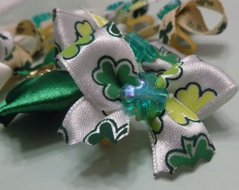 Dog Bows//St. Patty's//St. Patrick's Day//Bows for Dogs//St. Patty's for Dogs//St. Patrick's for Dogs//Dog Hair Accessories//FREE SHIPPING