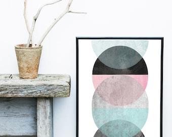 Geometric Art, Minimalist Print, Printable Art, Abstract Art Print ,Home Decor, Scandinavian Print, Wall decor, Gallery Wall