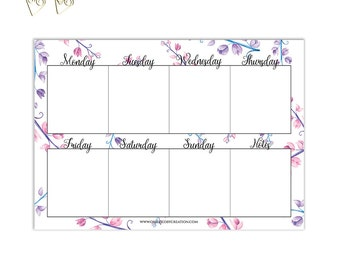 2017 Weekly Planner Printable Planner Inserts Filofax A5