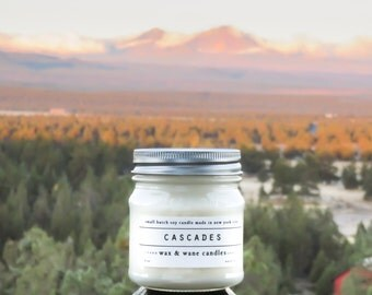 Cascades Soy Candle - Oregon Cascadia Inspired Soy Candles - Phthalate free