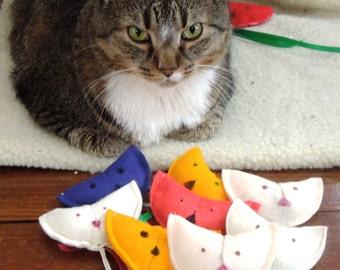 Sew Cute Organic Felt Cat Nip Cat Toys!