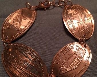 Souvenir Pittsburgh Smashed Penny Custom Bracelet