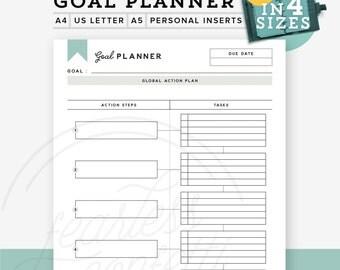 Printable Goal Planner, Printable Goal Tracker, Goal Planner Personal Planner Inserts, Goal Setting printable, Goal Digger INSTANT DOWNLOAD