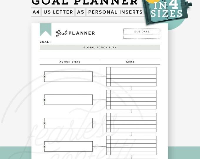 Goal setting worksheets printable