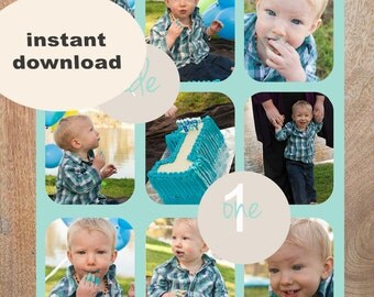 INSTANT DOWNLOADABLE Cake Smash Storyboard, Photoshop Template, photography template