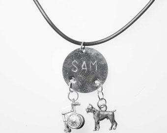 Dogs and Wheels Necklace