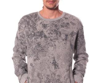 Men's Sweatshirt - Alternative Street Style Quality Comfy Warm Sweatshirt in Grey - 100% Cotton - Awesome Winter Clothing - SALE