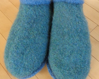 Green Felted Clogs