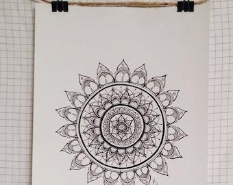 Hand Drawn Print {Sunflower}