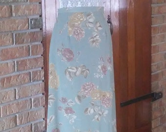 Laura Ashley floral lined skirt