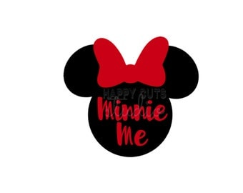 Minnie Mouse Minnie Me or Minnie with Bow Matching Mother Daughter Family Disney Vacation Iron Disney On Decal Vinyl for Shirt 016