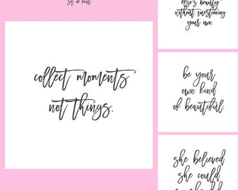 Instagram Marketing Quote Bundle Pack, Social Media Kit Templates, Inspiration, For Photographers and Bloggers, Instant Download